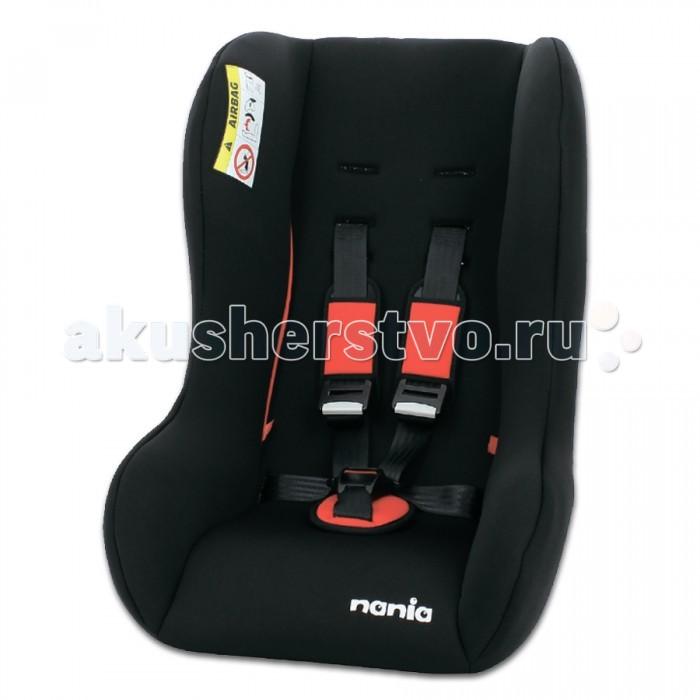 Автокресло Nania Trio SP ECOTrio SP ECOДетское автокресло Nania Trio SP ECO предназначено для детей с рождения и примерно до 5 лет (максимальная нагрузка - 25 кг).  Особенности:  - Устанавливается на переднем сиденье спиной вперед (при весе ребенка до 9 кг) или на заднем лицом вперед (9-25 кг). - Крепится с помощью штатных ремней автомобиля. - Материал корпуса: полипропилен, поглощающий силу удара. - Пятиточечные ремни безопасности с центральной регулировкой и мягкими накладками. - 2 положения наклона спинки. - Усиленная защита от боковых ударов. - Специальный мягкий вкладыш и подголовник. - Чехлы: 100% хлопок (возможна ручная стирка тканевых частей при температуре 30-40°).<br>