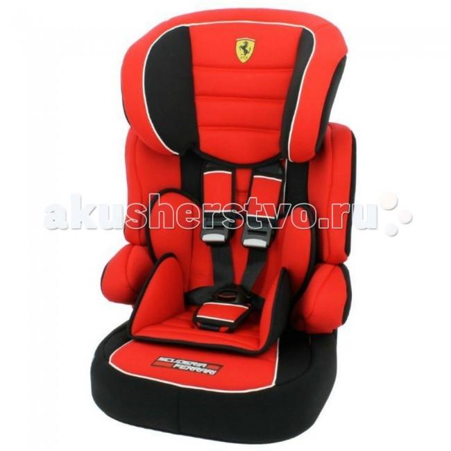Автокресло Nania Beline Sp FerrariBeline Sp FerrariДетское автомобильное сиденье Nania Beline Sp Ferrari предназначено для детей с 9 месяцев до 12 лет (9-36 кг).  Суперсовременный дизайн, стильная красная обивка и логотип «Феррари» превратят рядовую поездку в увлекательное путешествие. Подголовник регулируется по высоте (6 позиций). «Ушки» подголовника обеспечивают необходимую защиту и не закрывают обзор. Вместительное упругое сиденье делает комфортной любую поездку.  Тканевые фрагменты обивки можно стирать при комнатной температуре, пластиковые – мыть мягким моющим средством. Сбоку кресла находится удобный кармашек для детских принадлежностей.  Ударопрочный корпус автокресла Nania Beline Sp Ferrari оснащен усиленной защитой головы и плечевого пояса ребенка. Малыш до 4-х лет пристегивается внутренними 5-точечными ремнями безопасности с мягкими плечевыми накладками. Специальный фиксатор лямок ремня прикреплен шнурком к спинке автокресла. Дети постарше пристегиваются штатными автомобильными ремнями. Высокие подлокотники обеспечивают дополнительную боковую защиту.  Детское сиденье соответствует европейскому стандарту безопасности ECE-R 44/03.  Автокресло Beline Sp Ferrari устанавливается только по ходу движения машины и крепится автомобильными ремнями, которые проходят по специальным пластиковым направляющим. Кресло состоит из двух частей: сиденья и откручивающейся спинки. Бустер используется для перевозки детей старше 6 лет.   Особенности: Способ Установки: штатный трехточечный ремень Тип внутренних ремней: 5-точечные Регулировка высоты внутренних ремней Регулировка высоты подголовника Подстаканник Габариты (гхшхв ): 48х45х60 см<br>