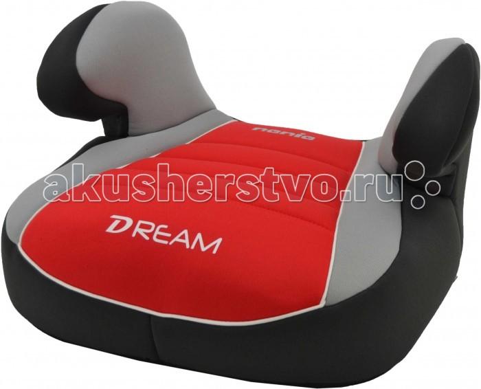 Бустер Nania Dream LuxeDream LuxeБустер Nania Dream Luxe – это удобный и комфортный бустер, который добавляет рост ребенку и позволяет ремням безопасности проходить по правильным точкам. Изделие может устанавливаться в автомобиле по направлению движения на переднее сиденье рядом с водителем и на заднем сиденье с краю. В бустере предусмотрены удобные подлокотники, мягкое покрытие, что делает поездку более приятной.   Автомобильное сиденье имеет Европейский сертификат безопасности ЕСЕ R44/03<br>