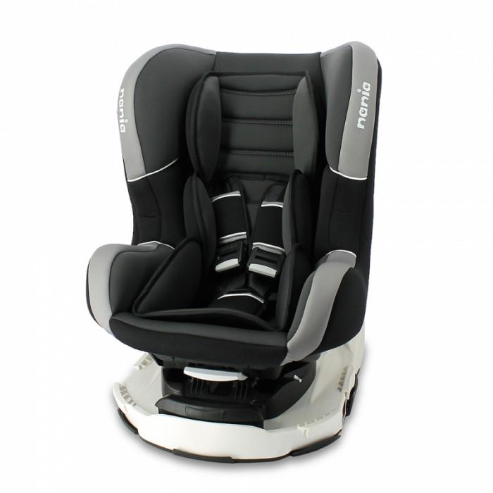 Автокресло Nania Revo PremiumRevo PremiumАвтокресло Nania Revo Premium имеет специальный мягкий вкладыш и подголовник.   Дополнительная усиленная боковая защита, 3 положения спинки, 5-ти точечный ремень безопасности с удобной системой натяжения. Новая система крепления автокресла облегчает его установку в автомобиль. Надежное крепление к автомобильному сиденью по ходу движения автомобиля (ремень автомобиля проходит между основой и корпусом автокресла). Устанавливается в автомобилях с 3-х точечными ремнями безопасности на переднем или заднем сиденье.  Nania Revo было разработано на основе требований безопасности, а также ортопедических факторов: мягкие обивка и подушки, а анатомическая форма nania Revo обеспечивает комфорт даже в дальних поездках. Система боковой защиты Side Protection (SP) обеспечивает необходимую безопасность даже при боковом столкновении.   5-ти точечные ремни безопасности можно регулировать не только по длине и высоте, но и снять совсем, когда ребенок подрастет.  Особенность автокресла Nania Revo - поворотный механизм автокресла на базе. Благодаря чему ребенка удобно усаживать и доставать из автокресла.  Особенности nania Revo: Внешние размеры (Д х Ш х В): 54 х 45 х 61 см Внутренние размеры (Д х Ш): 33 х 31 см Высота спинки: 55 см Вес: 5.7 кг Ткань: 100% полиэстер. Монтаж в автомобиле: Задний диван или сиденье пассажира Направление установка: против движение - до 9 кг, потом по ходу движения Класс: 0-1, 0-18 кг Система крепления: 5-точечные ремни безопасности Ткань: 100% полиэстер, стирать до 30° C<br>