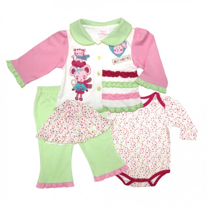 Купить Комплекты детской одежды, Nannette Комплект для девочки 4 предмета 111-0049