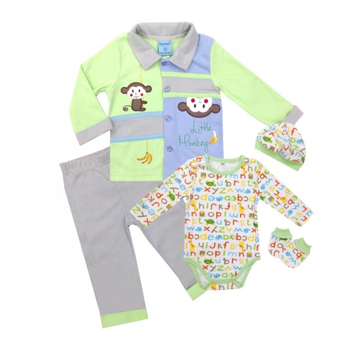 Комплекты детской одежды Nannette Комплект для мальчика 5 предметов 111-0025 комплекты детской одежды клякса комплект 5 предметов 53 5228
