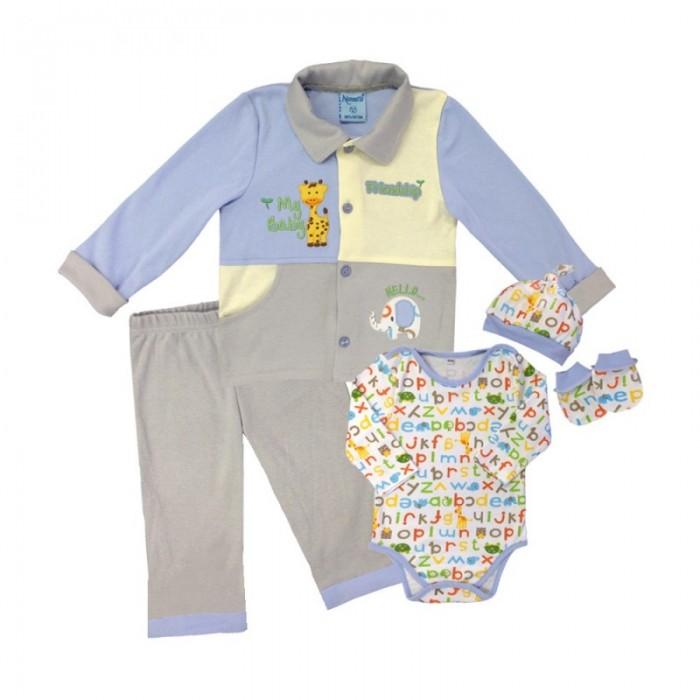 Комплекты детской одежды Nannette Комплект для мальчика 5 предметов 111-0042 комплекты детской одежды клякса комплект 5 предметов 53 5228