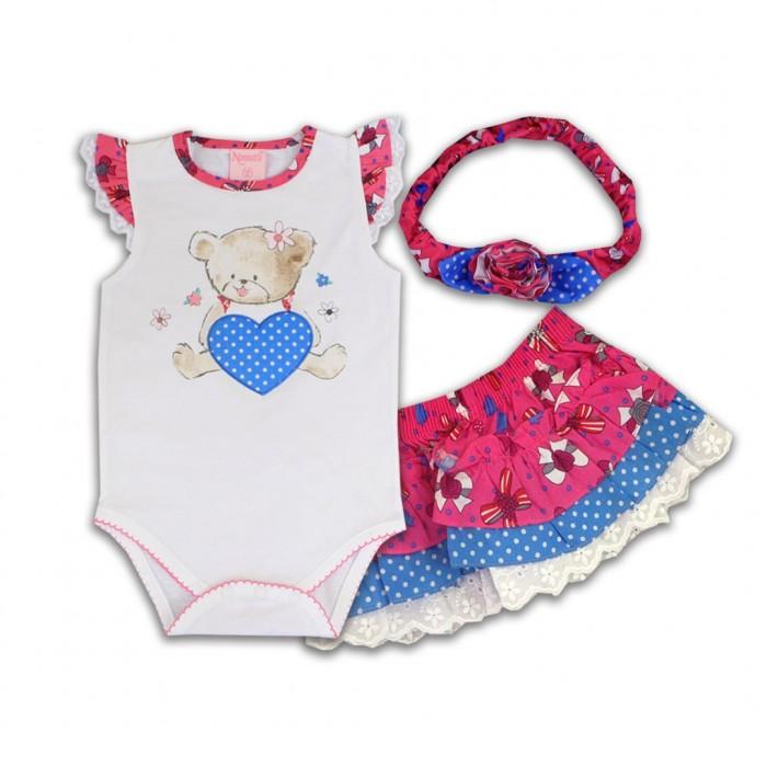 Комплекты детской одежды Nannette Комплект (боди, трусы-юбка, повязка на голову) 14-2942 повязки на голову lak miss повязка на голову