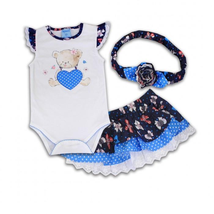 Комплекты детской одежды Nannette Комплект (боди, трусы-юбка, повязка на голову) 14-2942