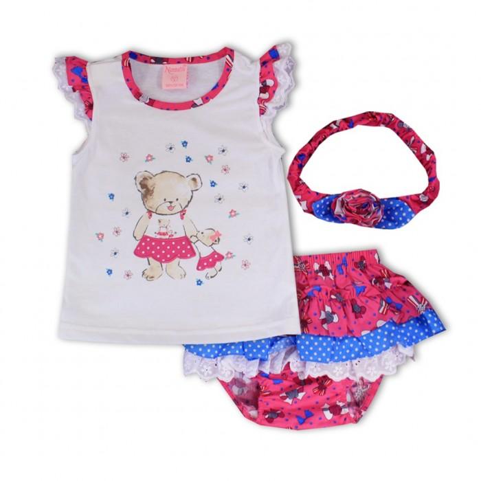 Комплекты детской одежды Nannette Комплект (блузка, трусы-юбка, повязка на голову) 14-2943