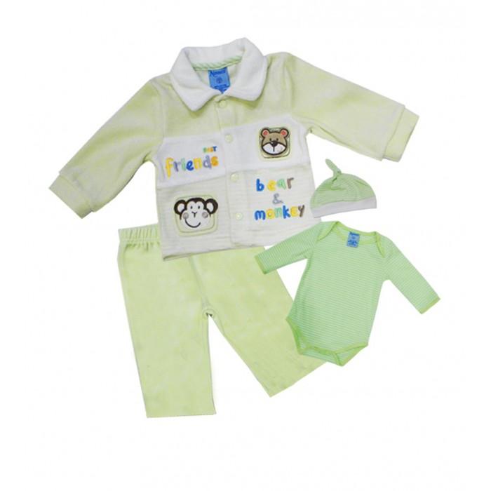 Купить Комплекты детской одежды, Nannette Комплект (боди, штаны, куртка, чепчик) 14-2854