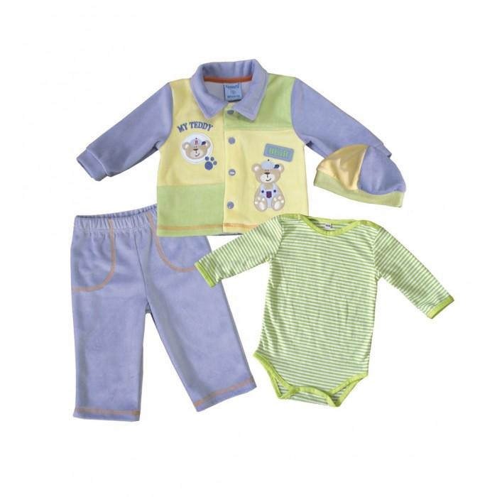 Купить Комплекты детской одежды, Nannette Комплект (боди, штаны, куртка, чепчик) 14-2866