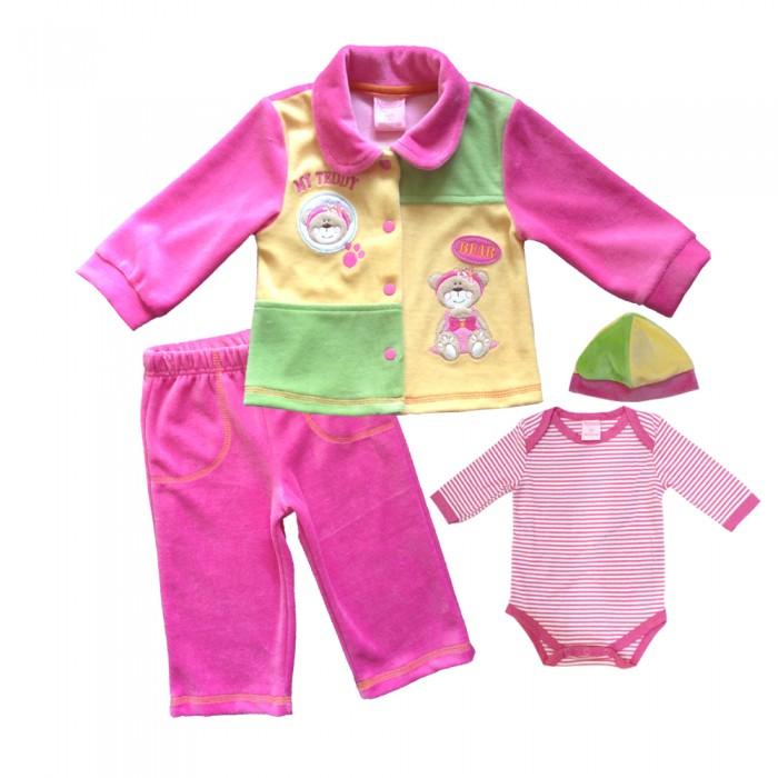 Комплекты детской одежды Nannette Комплект (боди, штаны, куртка, чепчик) 14-2867 комплекты детской одежды nannette комплект 5 предметов 14 2875