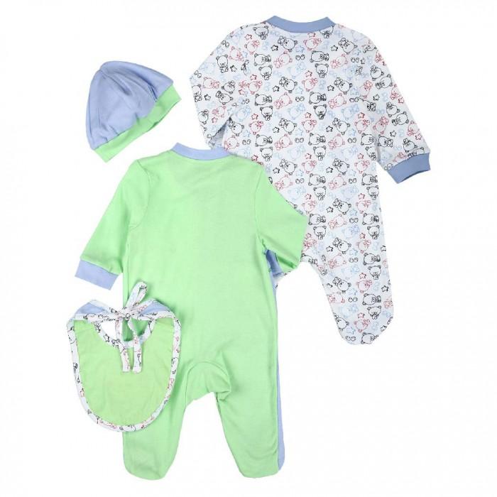 Купить Комплекты детской одежды, Nannette Комплект (рампер, боди, шапочка, царапки) 14-2893