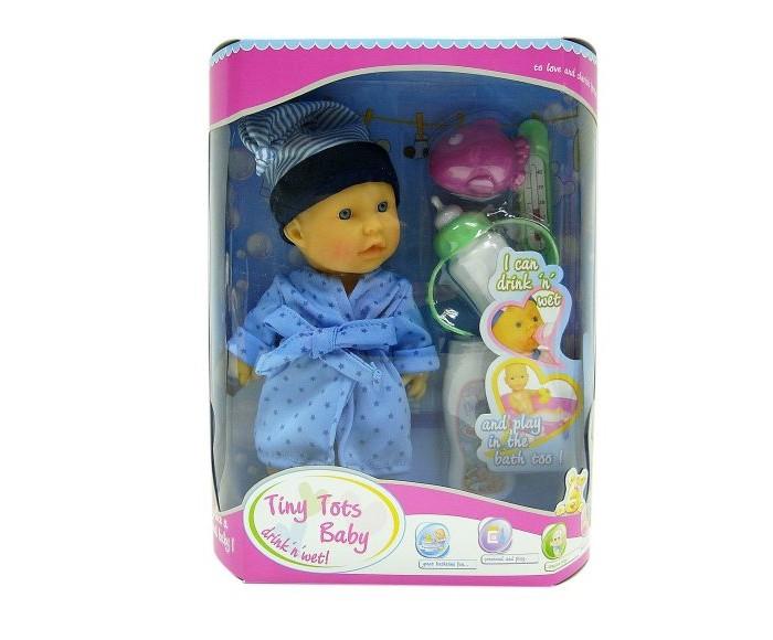 Купить Куклы и одежда для кукол, Наша Игрушка Пупс в халате с аксессуарами 23 см