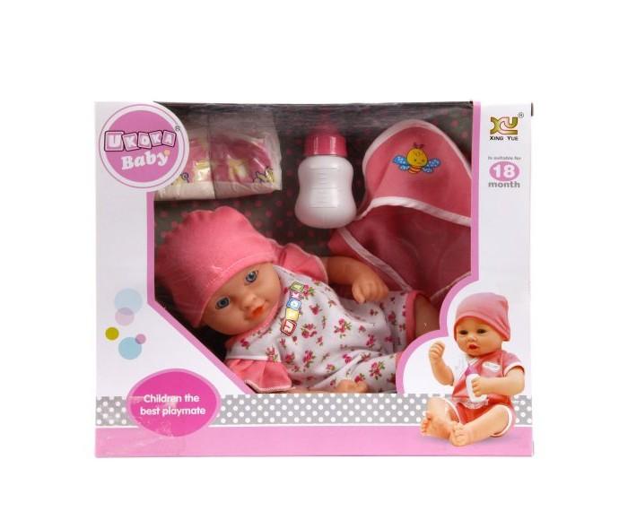 Куклы и одежда для кукол Наша Игрушка Пупс в костюмчике с аксессуарами 30 см 8020F куклы и одежда для кукол наша игрушка пупс с озвучкой и аксессуарами 30 см