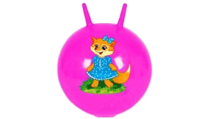 Мячи Наша Игрушка Мяч-попрыгунчик с рожками 50 см игрушка для животных каскад мяч сетчатый с колокольчиком диаметр 4 см