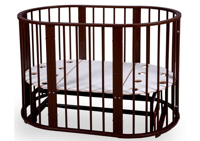 Кроватка-трансформер Nastella Baby Molly 7 в 1 (поперечный маятник)Baby Molly 7 в 1 (поперечный маятник)Кроватка Nastella Baby Molly 7 в 1 (поперечный маятник) которая может использоваться по нескольким назначениям. Кроватка способна превращаться из люльки в кроватку, из кроватки в небольшой диванчик, из диванчика в стол с двумя креслами.  У кровати-трансформера идеально гладкое, массивное основание; 3 уровня высоты у кроватей и стульев.  Варианты сборки: круглая кровать (для матраса диаметром 75 см) овальная кровать (для матраса 125 х 75 см) диванчик  (для матраса 125 х 75 см) манеж стул стул пеленальный стол/стол для творчества.<br>