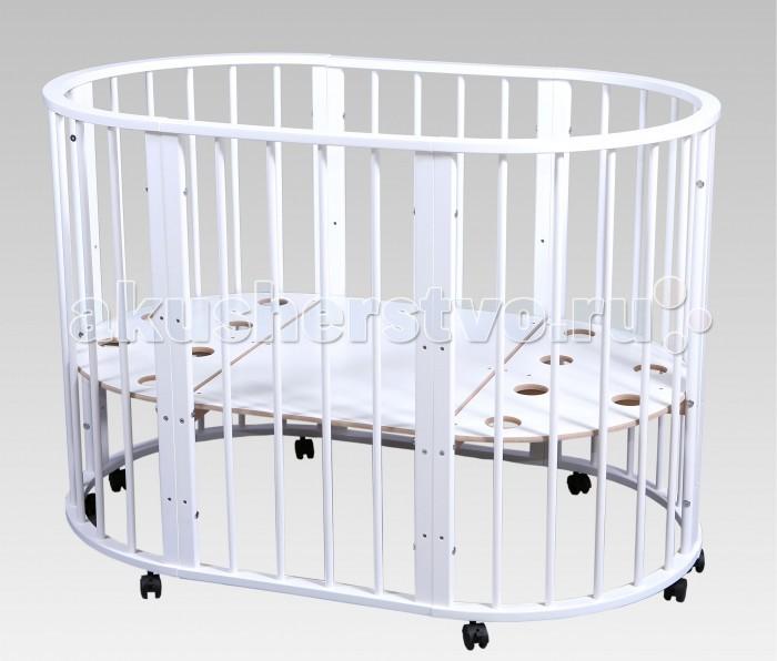 Кроватка-трансформер Nastella Baby Molly 7 в 1Baby Molly 7 в 1Кроватка-трансформер Nastella Baby Molly 7 в 1  которая может использоваться по нескольким назначениям. Кроватка способна превращаться из люльки в кроватку, из кроватку в небольшой диванчик, из диванчика в стол с двумя креслами.  У кровати-трансформера идеально гладкое, массивное основание; 3 уровня высоты у кроватей и стульев.  Варианты сборки: круглая кровать - матрас диаметром 75 см;  овальная кровать - матрас 125х75;  диванчик  - матрас 125х75 манеж стул стул пеленальный стол/стол для творчества.<br>