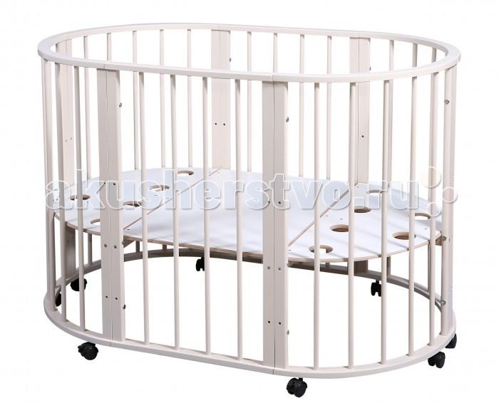 Кроватка-трансформер Nastella Baby Molly 7 в 1Baby Molly 7 в 1Кроватка-трансформер Nastella Baby Molly 7 в 1  которая может использоваться по нескольким назначениям. Кроватка способна превращаться из люльки в кроватку, из кроватки в небольшой диванчик, из диванчика в стол с двумя креслами.  У кровати-трансформера идеально гладкое, массивное основание; 3 уровня высоты у кроватей и стульев.  Варианты сборки: круглая кровать - матрас диаметром 75 см;  овальная кровать - матрас 125х75;  диванчик  - матрас 125х75 манеж стул стул пеленальный стол/стол для творчества.<br>