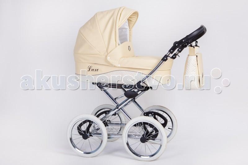Коляска Nastella Luxe 2 в 1Luxe 2 в 1Детская коляска 2 в 1 Nastella Luxe – великолепная и неповторимая модель! Стильный дизайн не оставит равнодушным даже самых привередливых родителей. Высокая проходимость по бездорожью благодаря большим надувным колесам. Плавность хода обеспечивает мягкая подвеска.  Эту модель можно смело отнести к функциональным решением среднего ценового сегмента, которая по характеристикам и эксплуатационным параметрам может достойно конкурировать с самыми элитными налогами известных европейских или американских брендов.   Выполненная в лучших традициях промысла, коляска очень продумана в мелочах, что повышает ее надежность и практичность.  Особенности: Регулировка наклона спинки; Регулируемая подножка; Мягкие накладки на ремнях; Спинка сиденья с мягкими боковинами; Большой капюшон с козырьком. Характеристика люльки: Просторная люлька; Большой капюшон с солнцезащитным козырьком; Накидка на ножки от ветра и непогоды. Ручка Регулируемая по высоте, имеет держатели для сумки.<br>