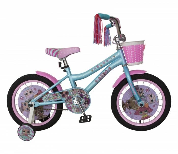 Велосипед двухколесный Navigator LOL 18Двухколесные велосипеды<br>Велосипед двухколесный Navigator LOL 18 - это хорошо собранный и надёжный велосипед для ребёнка.  Катание на велосипеде благоприятно влияет на здоровье, укрепляет мышцы, развивает зрение, учит ориентироваться в пространстве и принимать решения.   Особенности:  колеса 18 стальная рама стальные обода ножной тормоз защитная накладка на руле и выносе кронштейн заднего катафота мягкие TPR грипсы мягкое седло с пеной P-образная защита цепи страховочные колеса с рисунком звонок пластиковые крылья плетенная корзина пластиковые диски с рисунком в колесах косички на руле.