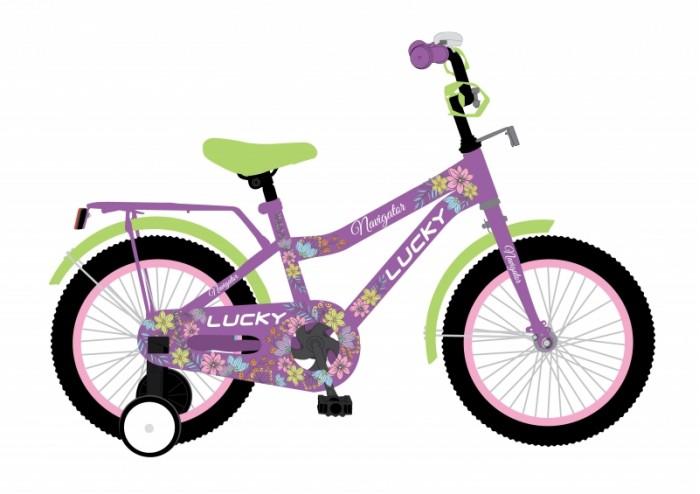 Велосипед двухколесный Navigator Lucky 12Двухколесные велосипеды<br>Велосипед двухколесный Navigator Lucky 12 - это хорошо собранный и надёжный велосипед для ребёнка.  Катание на велосипеде благоприятно влияет на здоровье, укрепляет мышцы, развивает зрение, учит ориентироваться в пространстве и принимать решения.   Особенности:  колеса 12 стальная рама стальные обода ножной тормоз защитная накладка на руле и выносе мягкие TPR грипсы мягкое седло с пеной полная защита цепи страховочные колеса звонок багажник длинные металлические крылья.