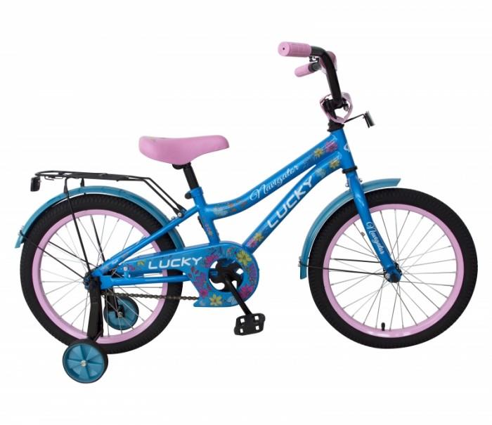 Велосипед двухколесный Navigator Lucky 16Двухколесные велосипеды<br>Велосипед двухколесный Navigator Lucky 16 - это хорошо собранный и надёжный велосипед для ребёнка.  Катание на велосипеде благоприятно влияет на здоровье, укрепляет мышцы, развивает зрение, учит ориентироваться в пространстве и принимать решения.   Особенности:  колеса 16 стальная рама стальные обода ножной тормоз защитная накладка на руле и выносе мягкие TPR грипсы мягкое седло с пеной P-образная защита цепи страховочные колеса звонок багажник длинные металлические крылья.