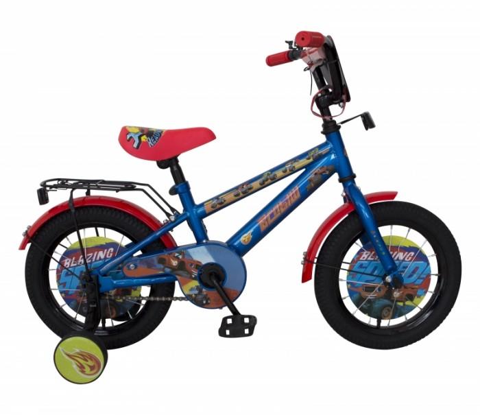 Велосипед двухколесный Navigator Вспыш 14Двухколесные велосипеды<br>Велосипед двухколесный Navigator Вспыш 14 - это хорошо собранный и надёжный велосипед для ребёнка.  Катание на велосипеде благоприятно влияет на здоровье, укрепляет мышцы, развивает зрение, учит ориентироваться в пространстве и принимать решения.   Особенности:  колеса 14 стальная рама стальные обода ножной тормоз защитная накладка на руле и выносе мягкие TPR грипсы мягкое седло с пеной P-образная защита цепи страховочные колеса с рисунком звонок длинные металлические крылья щиток на руле (мото) пластиковые диски с рисунком в колесах.