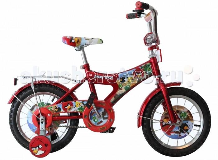 Велосипед двухколесный Navigator Angry Birds 14 AB-1Angry Birds 14 AB-1Велосипед Navigator Angry Birds AB-1 - это хорошо собранный и надёжный велосипед для ребёнка.   Особенности: Тип: детский Материал рамы: сталь Амортизация: отсутствует Конструкция вилки: жесткая Конструкция рулевой колонки: неинтегрированная, резьбовая Диаметр колес: 14 дюймов Материал обода: алюминиевый сплав Двойной обод: нет Материал бортировочного шнура: металл Возможность крепления боковых колес: есть Боковые колеса в комплекте: есть Тип переднего тормоза: отсутствует Тип заднего тормоза: ножной Уровень заднего тормоза: начальный Количество скоростей: 1 Уровень каретки: начальный Конструкция каретки: неинтегрированная Тип посадочной части вала каретки: квадрат Количество звезд в кассете: 1 Количество звезд системы: 1 Конструкция педалей: платформы Конструкция руля: изогнутый Настройка положения руля: регулируемый подъем Комплектация: багажник, крылья Материал рамки седла: сталь Комфорт: защита цепи<br>