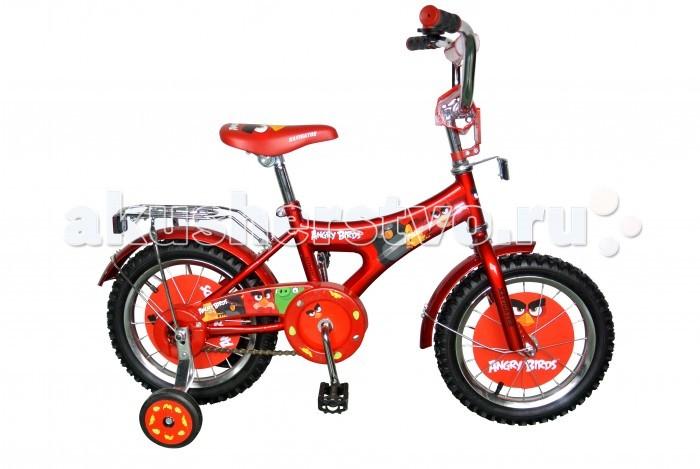 Велосипед двухколесный Navigator Angry Birds 14Angry Birds 14Велосипед Navigator Angry Birds 14 - это хорошо собранный и надёжный велосипед для ребёнка. Модель подойдет для ребенка ростом 100-120 см. Детский велосипед с ярким дизайном и популярной лицензией ANGRY BIRDS.  Велосипед оснащен багажником и звонком. Катание на велосипеде благоприятно влияет на здоровье, укрепляет мышцы, развивает зрение, учит ориентироваться в пространстве и принимать решения.   Особенности: Тип: детский Материал рамы: сталь Амортизация: отсутствует Конструкция вилки: жесткая Конструкция рулевой колонки: неинтегрированная, резьбовая Диаметр колес: 14 дюймов Материал обода: алюминиевый сплав Двойной обод: нет Шатун: односоставной Возможность крепления боковых колес: есть Боковые колеса в комплекте: есть Тип переднего тормоза: отсутствует Тип заднего тормоза: ножной Уровень заднего тормоза: начальный Количество скоростей: 1 Уровень каретки: начальный Конструкция каретки: неинтегрированная Тип посадочной части вала каретки: квадрат Количество звезд в кассете: 1 Количество звезд системы: 1 Конструкция педалей: платформы Конструкция руля: изогнутый Настройка положения руля: регулируемый подъем Материал рамки седла: сталь Комфорт: защита цепи, мягкая накладка на руле<br>