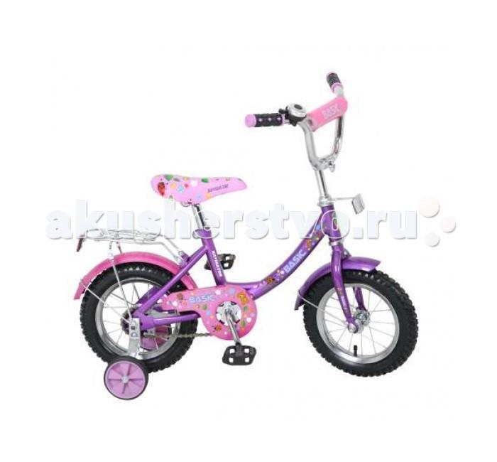 Велосипед двухколесный Navigator Basic 12 12BBasic 12 12BВелосипед Navigator Basic 12B - это хорошо собранный и надёжный велосипед для ребёнка.   Особенности: Тип: детский Материал рамы: сталь Амортизация: отсутствует Конструкция вилки: жесткая Конструкция рулевой колонки: неинтегрированная, резьбовая Диаметр колес: 12 дюймов Материал обода: алюминиевый сплав Двойной обод: нет Материал бортировочного шнура: металл Возможность крепления боковых колес: есть Боковые колеса в комплекте: есть Тип переднего тормоза: отсутствует Тип заднего тормоза: ножной Уровень заднего тормоза: начальный Количество скоростей: 1 Уровень каретки: начальный Конструкция каретки: неинтегрированная Тип посадочной части вала каретки: квадрат Количество звезд в кассете: 1 Количество звезд системы: 1 Конструкция педалей: платформы Конструкция руля: изогнутый Настройка положения руля: регулируемый подъем Комплектация: багажник, крылья Материал рамки седла: сталь Комфорт: защита цепи<br>