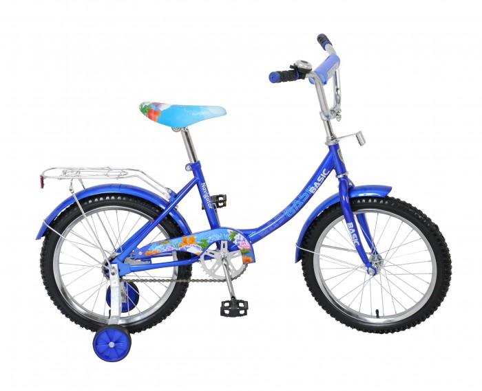 Велосипед двухколесный Navigator Basic 18 12BBasic 18 12BВелосипед Navigator Basic 18 12B - это хорошо собранный и надёжный велосипед для ребёнка.   Велосипед оснащен звонком и багажником. Модель подойдет для ребенка возрастом от 5 до 8 лет и ростом 115-135 см. Катание на велосипеде благоприятно влияет на здоровье, укрепляет мышцы, развивает зрение, учит ориентироваться в пространстве и принимать решения.   Особенности: Тип: детский Материал рамы: сталь Амортизация: отсутствует Конструкция вилки: жесткая Конструкция рулевой колонки: неинтегрированная, резьбовая Диаметр колес: 18 дюймов Материал обода: алюминиевый сплав Двойной обод: нет Шатун: односоставной Возможность крепления боковых колес: есть Боковые колеса в комплекте: есть Тип переднего тормоза: отсутствует Тип заднего тормоза: ножной Уровень заднего тормоза: начальный Количество скоростей: 1 Уровень каретки: начальный Конструкция каретки: неинтегрированная Тип посадочной части вала каретки: квадрат Количество звезд в кассете: 1 Количество звезд системы: 1 Конструкция педалей: платформы Конструкция руля: изогнутый Настройка положения руля: регулируемый подъем Материал рамки седла: сталь Комфорт: защита цепи, мягкая накладка на руле<br>