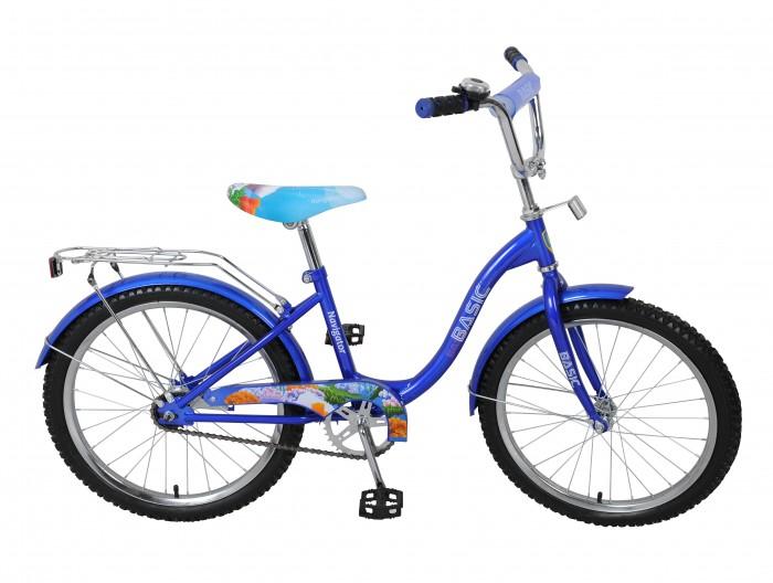 Велосипед двухколесный Navigator Basic 20 B09Basic 20 B09Велосипед Navigator Basic 20 B09 - это хорошо собранный и надёжный велосипед для ребёнка.   Велосипед оснащен звонком и багажником. Модель подойдет для ребенка возрастом от 7 лет и ростом 125-145 см. Катание на велосипеде благоприятно влияет на здоровье, укрепляет мышцы, развивает зрение, учит ориентироваться в пространстве и принимать решения.   Особенности: Тип: детский Материал рамы: сталь Амортизация: отсутствует Конструкция вилки: жесткая Конструкция рулевой колонки: неинтегрированная, резьбовая Диаметр колес: 20 дюймов Материал обода: алюминиевый сплав Двойной обод: нет Шатун: односоставной Возможность крепления боковых колес: нет Тип переднего тормоза: отсутствует Тип заднего тормоза: ножной Уровень заднего тормоза: начальный Количество скоростей: 1 Уровень каретки: начальный Конструкция каретки: неинтегрированная Тип посадочной части вала каретки: квадрат Количество звезд в кассете: 1 Количество звезд системы: 1 Конструкция педалей: платформы Конструкция руля: изогнутый Настройка положения руля: регулируемый подъем Материал рамки седла: сталь Комфорт: защита цепи, мягкая накладка на руле<br>