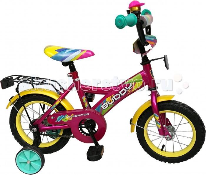 Велосипед двухколесный Navigator Buddy 12 KiteBuddy 12 KiteВелосипед двухколесный Navigator Buddy 12 Kite сможет стать первым транспортным средством ребенка и порадует его своим оригинальным дизайном. Конструкция данного транспортного средства изготовлена из металла, что гарантирует надежность и долговечность эксплуатации.  Велосипед обладает отличными техническими характеристиками и стильным внешним видом, который непременно привлечет внимание окружающих. Изделие снабжено страховочными колесами, благодаря которым дети смогут более уверенно научиться ездить и держать равновесие.   Особенности: однокомпонентный кареточный узел камеры из натуральной резины стальные обода покрышки 12 х 2,125 задний ножной тормоз вставки в колесах широкие страховочные колеса звонок возраст от 3 до 5 лет.<br>