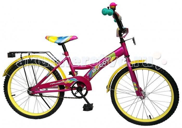 Велосипед двухколесный Navigator Buddy 20 KiteBuddy 20 KiteВелосипед двухколесный Navigator Buddy 20 Kite сможет стать первым транспортным средством ребенка и порадует его своим оригинальным дизайном. Конструкция данного транспортного средства изготовлена из металла, что гарантирует надежность и долговечность эксплуатации.  Велосипед обладает отличными техническими характеристиками и стильным внешним видом, который непременно привлечет внимание окружающих. Изделие снабжено страховочными колесами, благодаря которым дети смогут более уверенно научиться ездить и держать равновесие.   Особенности: однокомпонентный кареточный узел камеры из натуральной резины стальные обода покрышки 20 х 2,125 задний ножной тормоз вставки в колесах широкие страховочные колеса звонок возраст от 7 до 10 лет.<br>