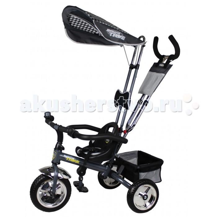 Велосипед трехколесный Navigator Lexus 10/8Lexus 10/8Велосипед трехколесный Navigator Lexus 10/8 оснащен регулируемой двойной ручкой, которая управляет передним колесом. Снизу велосипеда есть вместительная корзина, в которую можно сложить детские игрушки или небольшие вещи малыша. Установленный на руле звонок, издающий при нажатии интересный звук, сможет развеселить ребенка во время прогулок на велосипеде.  Особенности: диаметр переднего/заднего колеса: 10/8 грузоподъемность - 25 кг широкие колеса с пластиковыми дисками управляющая ручка страховочный ремень разъемный страховочный обод регулируемое сиденье высокая спинка складная подножка водонепроницаемый тент задняя корзина сумочка звонок тяга подушка под голову.<br>
