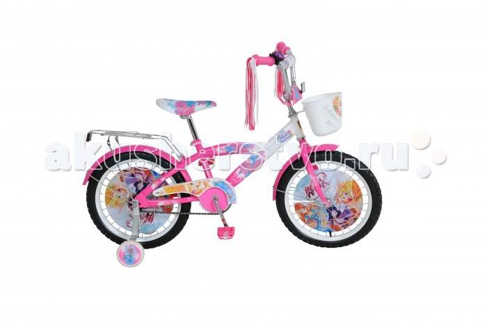 Велосипед двухколесный Navigator WINX T1-тип 18WINX T1-тип 18Велосипед двухколесный Navigator WINX T1-тип 18 подарит радость вашему ребенку.   Велосипед с изображениями знаменитых фей из мультфильма Winx оснащен щитком, который закрывает цепь, регулируемым по высоте сидением и декоративными дисками, которые установлены в двух колесах. На ручках двухколесного велосипеда имеется разноцветная мишура, а к задним колесам крепятся страховочные, которые помогут ребенку удержать равновесие.  Во время велосипедных прогулок ребенок сможет возить с собой разные вещи в белой корзинке и на багажнике, который находится над задним колесом.Комплект: велосипед, страховочные колеса, корзинка. Допустимый вес эксплуатации: 40 кг. Из чего сделана игрушка (состав): металл, пластик, резина. Длина велосипеда: 120 см. Диаметр колес: 18 дюймов. Тормоз: ножной. Подходящий рост: 110-130 см. Количество скоростей: 1.<br>