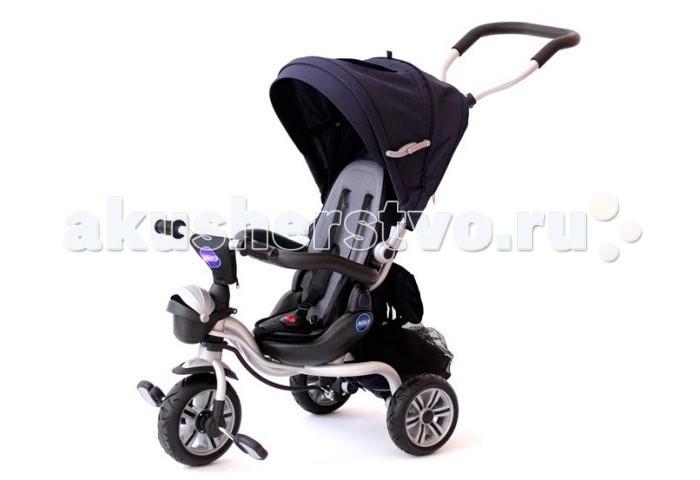 Велосипед трехколесный Neo N1N1Велосипед трехколесный Neo N1 обеспечит комфорт и удовольствие для вашего малыша во время прогулки.  Такой универсальный детский транспорт позволяет ребенку как ездить самостоятельно, так и кататься под контролем взрослого. При самостоятельном передвижении ребенок будет приводить велосипед в движение при помощи педалей и управлять им рулем. Если же велосипед выполняет функцию прогулочной коляски, взрослый сможет толкать его перед собой при помощи специальной ручки, которая также служит и для управления.  Особенности: Рама велосипеда изготовлена из легкого и прочного алюминия, анатомическое поворотное сиденье имеет ремни безопасности.  Спинку можно установить в нескольких положениях.  Родительская ручка меняет высоту. Колеса большие, резиновые. На переднем колесе имеются педали, которые позволят ребенку в дальнейшем кататься самостоятельно.  Сидение имеет удобную правильную форму, необходимую для поддержки формирующегося позвоночника ребенка, а крепкий пятиточечный ремень надежно удерживает малыша на сидении.  Стильный съемный тент со смотровым окошком можно закрепить в двух положениях.  Для безопасности малыша предусмотрен задний тормоз.  Качественное исполнение и прекрасный ультрасовременный дизайн велосипеда не оставят равнодушными ни детей, ни их родителей. Размер велосипеда: 102 x 51 x 85 см  Внимание! Подножка в комплект не входит и приобретается отдельно.<br>