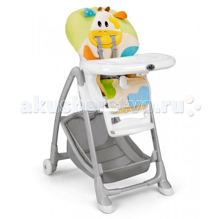 Стульчик для кормления Neonato Lofty RelaxLofty RelaxNeonato стульчик для кормления Lofty Relax Особенности: - вы можете отрегулировать необходимую высоту стульчика, а так же наклон спинки и выбрать удобное положение подножки.  - для детей с от 6-ти до 36-ти месяцев - 4-положения регулировки наклона спинки - 7-положений регулировки сиденья по высоте - 2-съемных подноса - 5-ти точечные ремни безопасности - съемный моющийся чехол - отсутствие острых углов.  В комплекте: - нижняя корзина для хранения игрушек и аксессуаров или других детских товаров - столик - мягкое сидение  - 2 колесика - пятиточечные ремни безопасности - поручень - дуга с игрушками  Размер стульчика: Стульчик: 56,5 *78 *104 см В сложенном виде: 56,5 *37,5 *88см Вес: 10,1 кг<br>