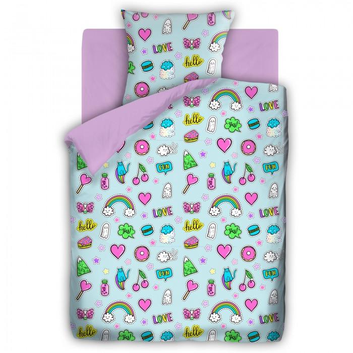 Постельное белье 1.5-спальное Непоседа For You Аппликации 1.5-спальное (3 предмета) постельное белье 1 5 спальное непоседа смайлы 1 5 спальное 3 предмета