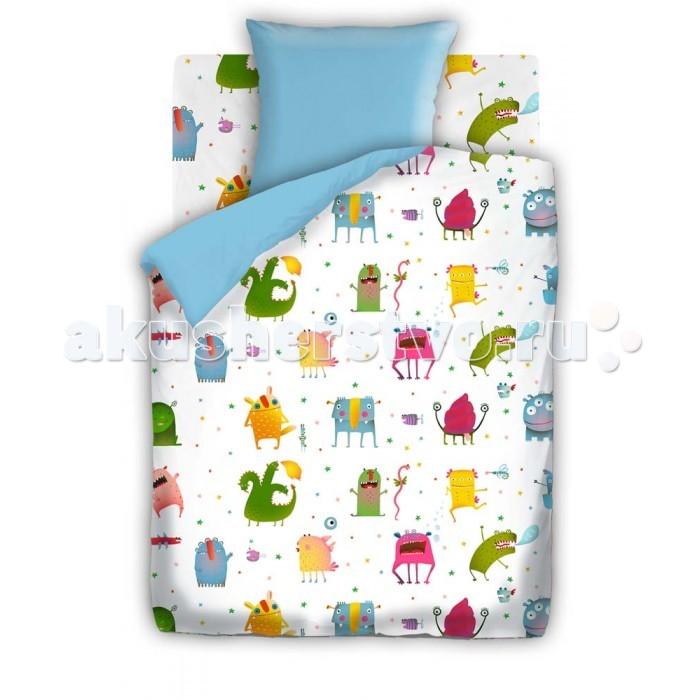 Постельное белье 1.5-спальное Непоседа Монстрики 1.5-спальное (3 предмета) постельное белье 1 5 спальное непоседа смайлы 1 5 спальное 3 предмета