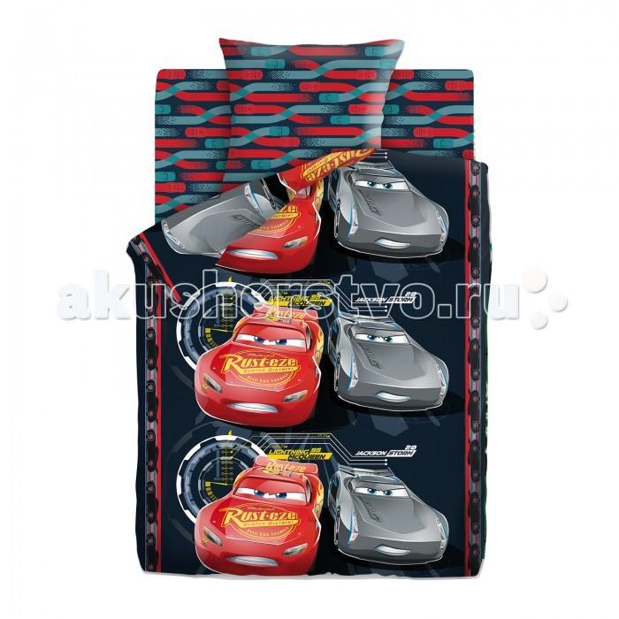 Постельное белье Непоседа Тачки Neon Маккуин и Шторм 1.5-спальное (3 предмета)