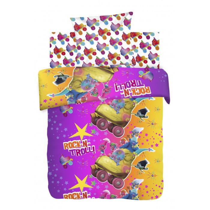 Постельное белье 1.5-спальное Непоседа Тролли 1.5-спальное (3 предмета) непоседа непоседа детское постельное белье 1 5 спальное emoji movie эмоджи стайл