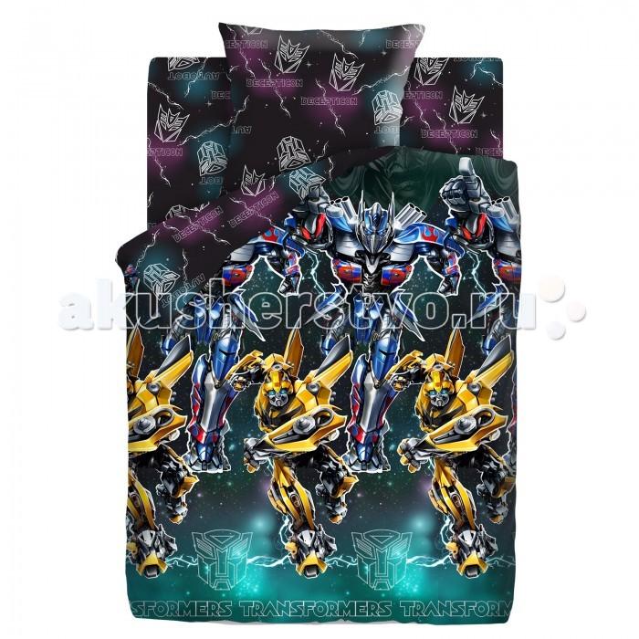 Постельное белье 1.5-спальное Непоседа Transformers Neon Оптимус Прайм и Бамблби 1.5-спальное (3 предмета) transformers маска bumblebee c1331