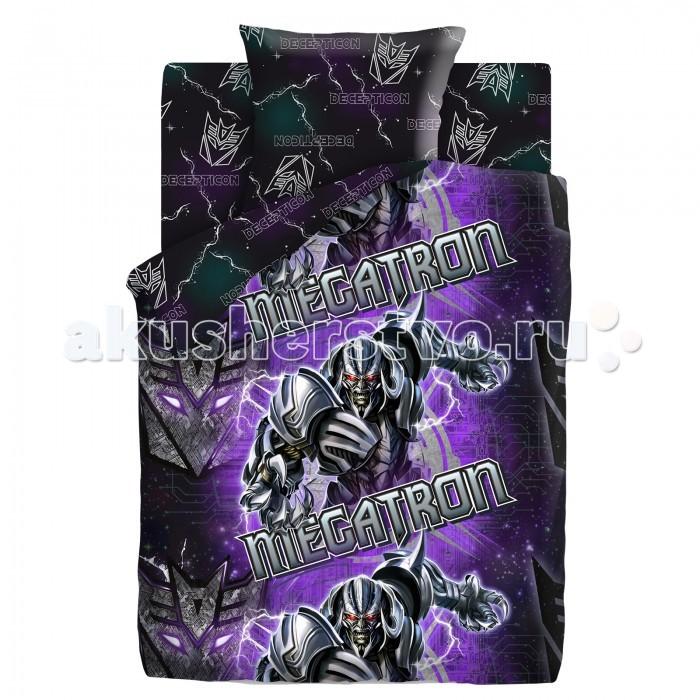 Постельное белье 1.5-спальное Непоседа Transformers Neon Мегатрон 1.5-спальное (3 предмета) постельное белье 1 5 спальное непоседа смайлы 1 5 спальное 3 предмета
