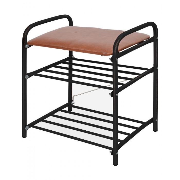 Мягкие кресла Ника Банкетка для обуви 2-полки с мягким сиденьем