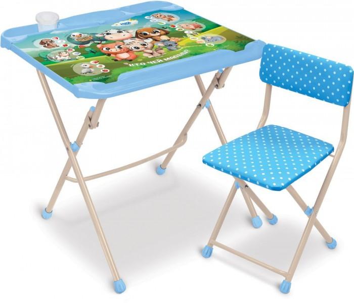 Школьные парты Ника Комплект детской мебели Кто чей малыш? КНД4