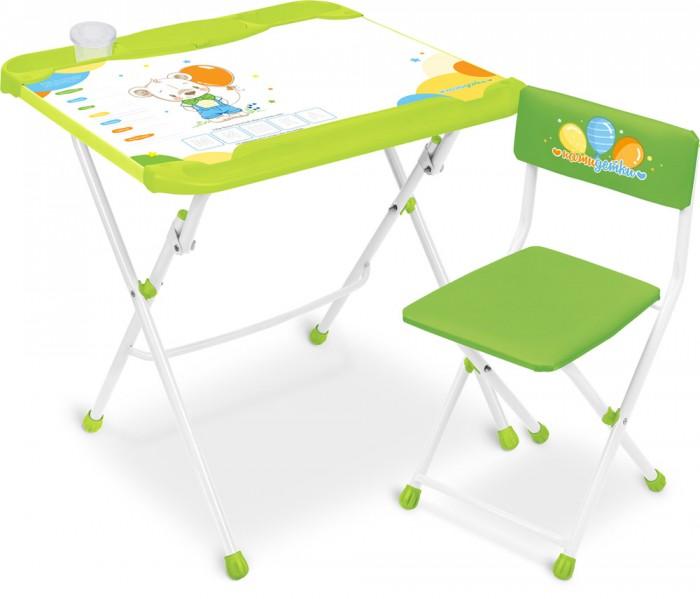 Детские столы и стулья Ника Детский комплект мебели с медвежонком