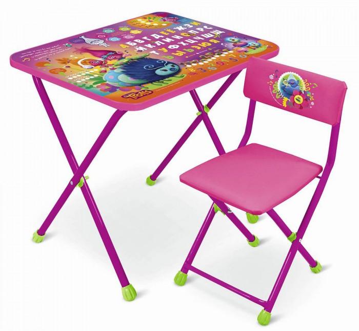 Детские столы и стулья Ника Набор мебели Trolls