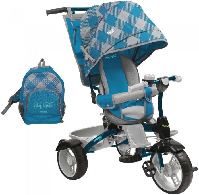 Велосипед трехколесный Ника ВД5Трехколесные велосипеды<br>Ника Велосипед трёхколёсный ВД5  Область применения: для детей в возрасте от 8 месяцев  Каркас: сварной, из стальных труб  Допустимая нагрузка: до 25 кг  Преимущества: удобное сиденье с ортопедической спинкой имеет боковую защиту в виде мягких бортиков. Если малыш уснул во время прогулки, бортики послужат удобной подушкой и поддержат его голову два положения сидения: лицом к маме и лицом к дороге съемный страховочный обод обеспечит дополнительную безопасность основная складная подножка и дополнительные съемные пластиковые подножки для детей от 8 месяцев съемная родительская ручка управления складная крыша с фиксатором пластиковый багажник многофункциональный органайзер крепиться к родительской ручке удобный рюкзак увеличенные мягкие шины EVA соответствуют свойствам резиновых накаченных колес