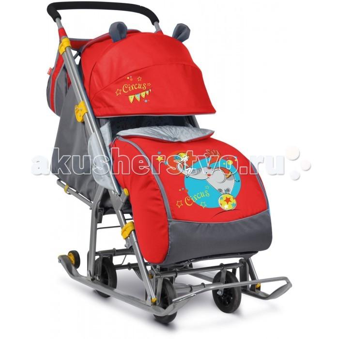 Санки-коляска Ника Детям 7Детям 7Санки-коляска Ника Детям 7 предназначены для перевозки детей в положении сидя и лежа.  Чехол выполнен из влагонепроницаемого износоустойчивого полиэстера.  Прочный и легкий металлический каркас, легко складывается.  Широкие полозья обеспечивают легкое скольжение по снегу.  Характеристики: механизм смены полозьев на колеса плоские полозья 40 мм с большими обрезиненными колесами пятиточечный ремень безопасности складной трехсекционный козырек высокий с декоративными ушками  плавная регулировка спинки до положения лежа чехол для ног с 2-мя молниями для удобного открывания с двух сторон подножка с регулируемым наклоном ног, позволяющая ребенку в положении лежа комфортно вытягивать ножки светоотражающий кант колесо для удобной транспортировки перекидная ручка широкое посадочное место смотровое окошко для наблюдения за ребенком новый дизайн сумки с кармашками для полезных мелочей яркий рисунок<br>