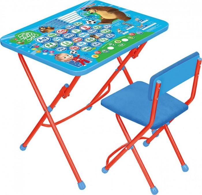 Детские столы и стулья Ника Набор мебели Маша и Медведь (стол-парта+мягкий стул)