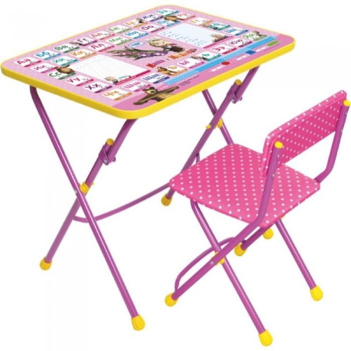 Ника Набор мебели Маша и Медведь (стол-парта+мягкий стул)Набор мебели Маша и Медведь (стол-парта+мягкий стул)Набор детской мебели Маша и Медведь (стол-парта+мягкий стул) предназначен для детей возраста от 3 до 7 лет. Это безопасная, удобная мебель, которая компактно складывается и экономит пространство Вашей квартиры. Углы стола и стула мягко закруглены, основу мебели составляет металлический каркас, а форма и габариты соответствуют росту и весу ребенка.   С набором детской мебели Маша и Медведь Ваш ребенок будет с удовольствием получать новые знания, тренировать полученные навыки и развивать свои творческие способности! Главное в обучении ребенка – это правильный подход в форме игры, поэтому каждый стол – тематический.  В набор входят: стол 59х45х57 см стул мягкий: высота до сиденья 32 см, высота со спинкой 56 см, сиденье 30х27 см  Размер упаковки 750 х 155 х 610 мм Вес упаковки 7.45 кг<br>